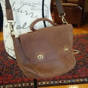 Jesslyn Blake Anthropologie brown leather bag